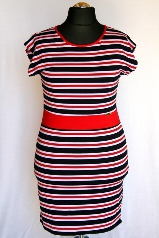 9aa0012d5e Csíkos ruha - Viszkóz ruhák :: Ruhakirály női molett ruha Webshop