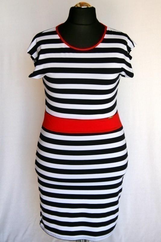 68b3b0fab5 Csíkos ruha - Viszkóz ruhák :: Ruhakirály női molett ruha Webshop