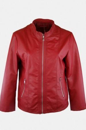 Rózsaszín színű, elején fűzős műbőr dzseki S, M, L, XL, 2XL