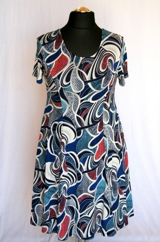 dc3f9aeb50 Fruzsi nyári ruha - Viszkóz ruhák :: Ruhakirály női molett ruha Webshop