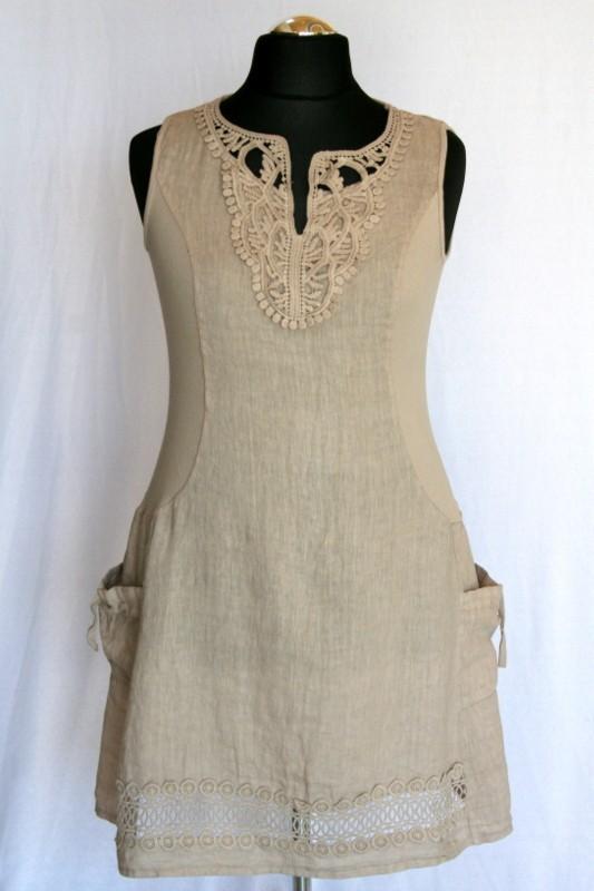 ad419d21ba Len nyári ruha - Len- Vászon- Géz rövid ruhák :: Ruhakirály női ...