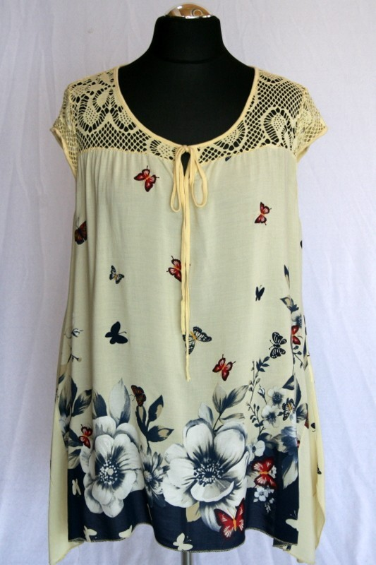 155058ce5e Lepkés tunika - Nyári felsőrészek :: Ruhakirály női molett ruha Webshop