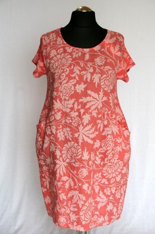8c20bae911 Molett virágos ruha - Len- Vászon- Géz rövid ruhák :: Ruhakirály női ...