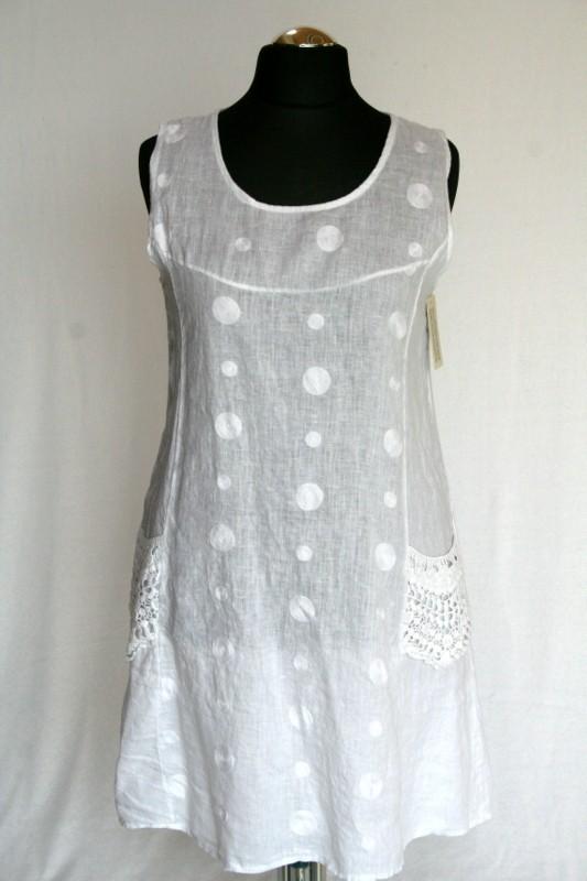 633c7585da Pöttyös len ruha - Len- Vászon- Géz rövid ruhák :: Ruhakirály női ...