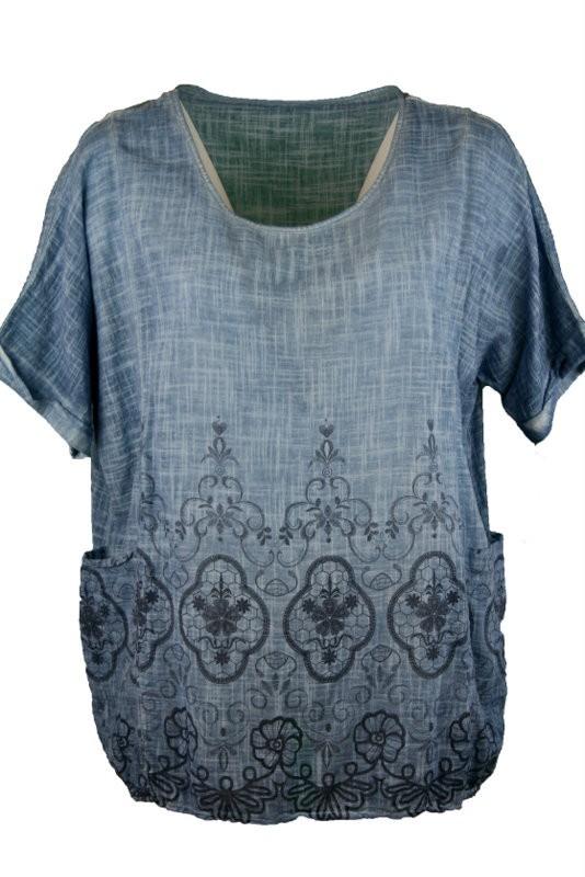 53b6d54bb1 Mintás géz tunika - Molett tunikák :: Ruhakirály női molett ruha Webshop